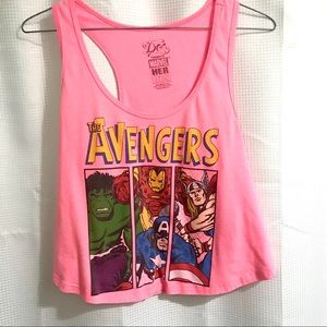 Marvel Heroes Avengers Pink Cropped Tank (M)